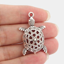 10pcs Antique Silver Hollow Turtle Tortoise Charms Pendants Jewelry Findings