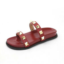 Summer Rivet Rubber Sole Slippers - Red (XPG051634)