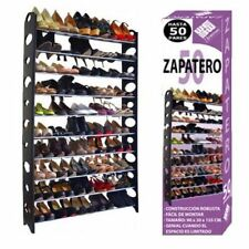 JPWonline BN-1013 50 Pares 142x90x20cm  Estantería para Zapatos - Negra