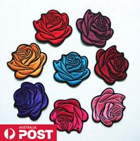 Rose Patch Flower Embroidered Patches for Embroidery Cloth Badge Iron Sew On