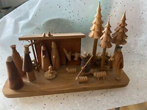 Vintage Nativity Wooden Made In Poland