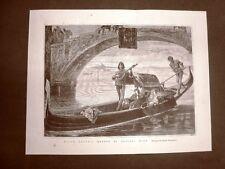 Sulla Laguna di Venezia Quadro di Antonio Zona del 1877