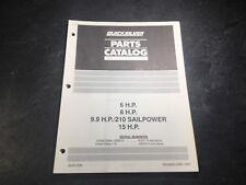 1986-92 Mercury Mariner 6, 8, 9.9 HP, 15 HP Outboard Parts Manual 210 Sailpower