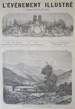 TUNNEL ALPES PLAGE BOULOGNE GRAVURES JOURNAL L EVENEMENT ILLUSTRE N° 45 de 1871