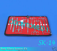 Set of 14 Pieces Basic Minor Surgery Kit Surgical instruments-SK-14