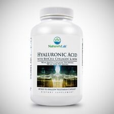 Hyaluronic Acid with Biocell Collagen and MSM by Nature's Lab - 60 Capsules