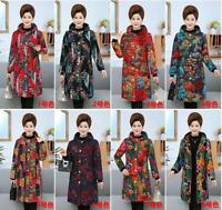Women's Winter Hooded Cotton Velvet Coat Warm Flower Thicken Padded Jacket Yoooc