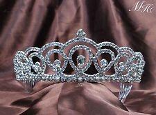 Women Princess Tiara Hair Combs Wedding Bridal Rhinestone Crystal Crown Headband