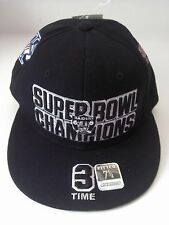 Oakland Raiders Reebok 3-Time Super Bowl Champs Fitted Size 7 1/4 Cap Carr Tuck