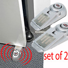 X2 Door Stop Alarm Wireless Home Travel Security System Portable Safety Wedge