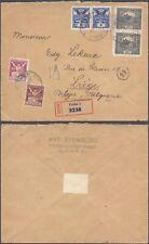 Czechoslovakia 1921 - Registered Cover to Liege Belgium D71
