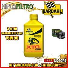 KIT TAGLIANDO 3LT OLIO BARDAHL XTC 15W50 GILERA 800 GP / GP Centenario 800CC 200