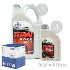 Engine Oil and Filter Service Kit 6 LITRES Fuchs Titan Race Pro S 5W-40 6L