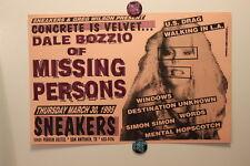 DALE BOZZIO / MISSING PERSONS San Antonio TX (1995) Concert Poster zappa prince