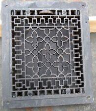Antique Victorian Cast Iron Heat Grate Vent Register Old Decor 10x12 (C1-B)