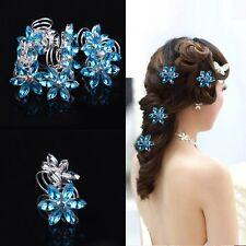Hair Accessories Ornaments Bridal Headdress Diamond Flower Spiral Clip Hairpin