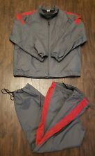 Vtg NIKE Gray Warm Up Track Suit Windbreaker Jacket XL Pants L
