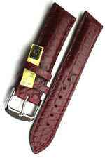 22mm Louisiana ALLIGATOR BAND Germany handmade KROKO Red wine color  22/20