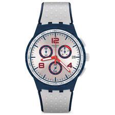 Swatch Originals Humpy Bumpy Grey Rubber Swiss Quartz Chronograph Watch SUSN411