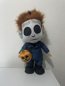 "Halloween 2 II Michael Myers & Jack O"" Lantern 20"" Tall Door Greeter Decoration"