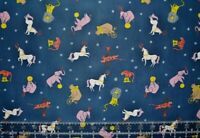 Moonlight Circus Animals lions tigers horses elephants By the 1/2 Yd 100% cotton