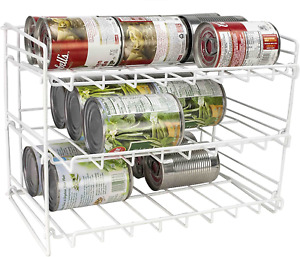 Home Basics Can Rack Organizer Food Storage Canned Food Soda Can Dispenser for C