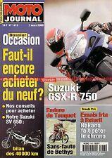 MOTO JOURNAL 1413 SUZUKI SV 650 GSX-R 750 Enduro TOUQUET 2000 Thierry BETHYS