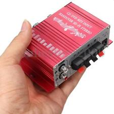 HOT Mini 2CH Hi-Fi Stereo Amplifier Booster DVD MP3 Car Motorcycle Home