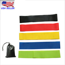 Set Of 5 Resistance Band Loop Yoga Pilates Exercise Fitness Workout Stretching