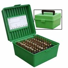 MTM Case Gard Deluxe 100 Round Rifle Ammo Case Green Flip top with handle R10010