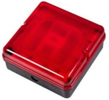 2x Brackenheath Briticent 16W 110v Square Bulkhead wit CFL Lamp & Red Diffuser