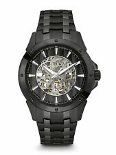 Bulova Men's 98A147 Automatic Skeleton Dial Black Bracelet 43mm Watch
