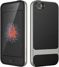 Case for Apple iPhone SE 5s 5 Slim Protective Cover ShockAbsorption Carbon Fiber