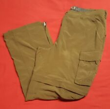 EUC REI Men's Brown Nylon Convertible Camping Hiking Cargo Pants XXLx32 Long