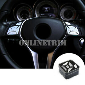 Interior Steering Wheel Button Trim Cover 12pcs For Benz C Class W204 2011-2013