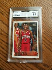 Allen Iverson Topps Rookie RC #171 GMA 8.5 nm mt+ 1996