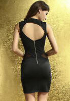 Sweetheart Neckline Seductive Party Mini Dress with Tulle Insert Black