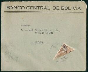 Bolivia 1959 Banco Central Bisect Cover to Oruro
