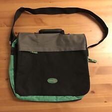 SMART COURIER / LAPTOP BAG - Black Green Messenger Shoulder College University