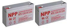 NPP 6V 12Ah SLA Deep Cycle Battery Replaces NP10-6 NP12-6 PE6V10 PE6V12 Pack 2