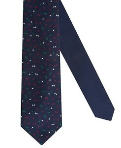 Tommy Hilfiger Big Boys Festive Bows Necktie Navy Blue Boys OS
