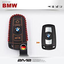Leather Key fob Holder Case Chain Cover FIT For BMW E63 E64 E84 E83 E70 E71 E72