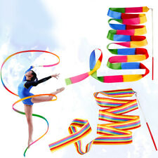 4 Pcs Ribbon Adjustable Colorful Straps Streamer with Stick for Training Dancing