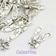 10 x Tibetan Silver Ballet Shoes & Bow Charms - Dance Shoes - Ballerina Slippers