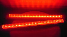 2x 18 LED RED DRL DAY INTERIOR BAR LIGHT TUBE BAR LAMP TRUCK LORRY 24V 400mm