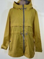 BNWT NEXT bright yellow waterproof raincoat anorak jacket coat size 14 eu 42 £48