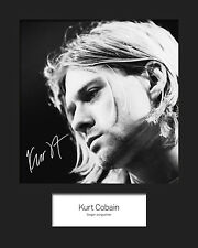 KURT COBAIN #2 10x8 SIGNED Mounted Photo Print - FREE DELIVERY