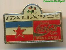 PIN'S BADGE COCA-COLA WORLD CUP ITALIA 90 YOUGOSLAVIA