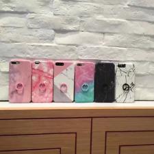 Coque avec Anneau Bague Housse Etui marbre pour iPhone 6 7 8 6s 7s Plus X