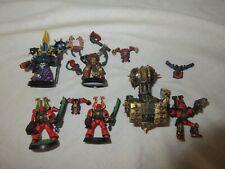 Warhammer Chaos Space Marine Berzerkers, champion juggernaut of khorne, Sorcerer